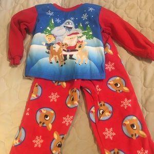 """Rudolf The Red- Nose Reindeer"""" Flannel Pjs Set"""